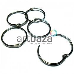 Набор колец металлических для переплета (скрапбукинга), разъёмных, ∅3.3 см., 5 штук, REGINA