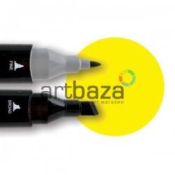 Маркер Tinge Twin Marker, 123 fluorescent yellow, Superior