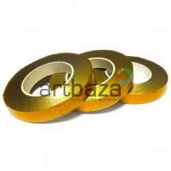 Флористическая лента, золотая (тейп лента)