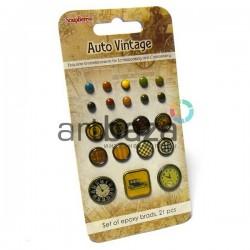 Набор брадсов для скрапбукинга Auto Vintage - Автовинтаж, 21 штука, ScrapBerry`s
