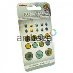 Набор брадсов для скрапбукинга Fairy Tale - Сказка про Фей, 21 штука, ScrapBerry`s