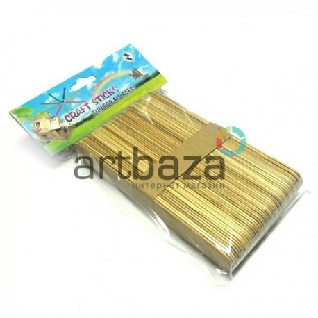 Набор плоских декоративных палочек для поделок и рукоделия (деревянные неокрашенные палочки для мороженого), Craft Sticks