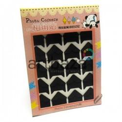 Уголки для альбомов и фотографий в скрапбукинге и кардмейкинге Photo Corners, черный конгрев, 24 штуки