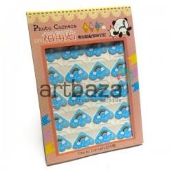 Уголки для альбомов и фотографий в скрапбукинге и кардмейкинге Photo Corners, радуга на голубом фоне, 24 штуки