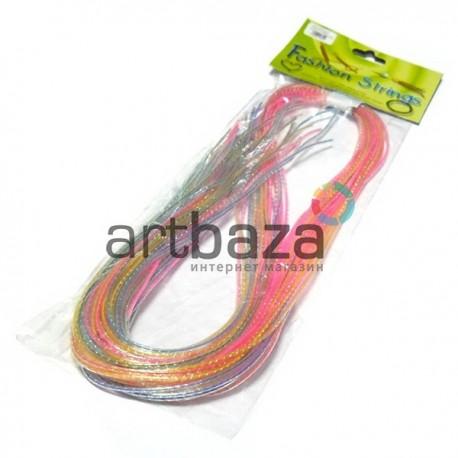 """Набор трубочек для плетения """"Скубиду"""", прозрачные с люрексовой нитью, длина 100 см., 20 штук"""