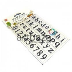 """Штампы для скрапбукинга (силиконовые штампы), набор """"Английский алфавит и цифры"""", 11 х 15 см."""