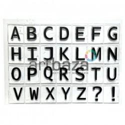 """Штампы для скрапбукинга (силиконовые штампы), набор """"Английский алфавит"""", 11 х 15 см."""