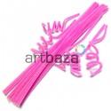 Розовая пушистая проволока шенил (синельная проволока, декоративный ёршик)