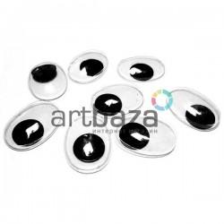 Набор косых глазок с бегающим (подвижным) зрачком для игрушек и кукол ∣ ARTBAZA UA