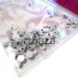Набор круглых глазок с бегающим (подвижным) зрачком для игрушек и кукол, Ø4 мм., ≈ 50 - 70 штук