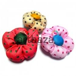 Набор декоративных тканевых цветов, Ø3.5 см., 3 штуки