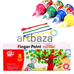 Набор пальчиковых красок, 8 цветов по 30 мл., Art Rangers