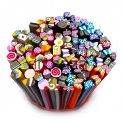 """Фимо - палочки для дизайна ногтей, из полимерной глины, mix Fimo sticks"""", Ø5 мм., длина 5 см."""