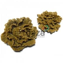 Набор цветных декоративных акриловых камей - розы, 4 - 5 см., 2 штуки, REGINA