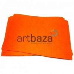 """Фетр для поделок и рукоделия """"Оранжевый"""", 1 мм., 20 х 30 см."""