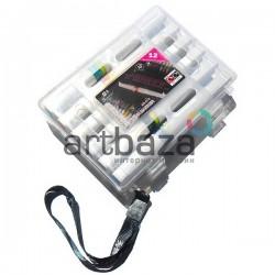 Набор маркеров Wink of Stella Brush на водной основе, кисть - перо, 12 цветов, Superior