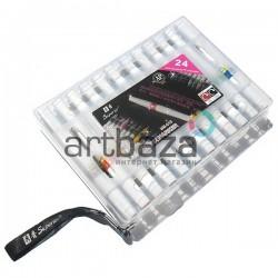 Набор маркеров Wink of Stella Brush на водной основе, кисть - перо, 24 цвета, Superior