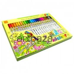 Набор фломастеров Fabric Marker для росписи по ткани и керамике, 24 цвета, Soundy Concept