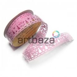"Лента самоклеящаяся ""Бабочка бледно - розовая"" трафаретная, ширина 18 мм., длина 1 м."