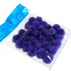 Набор декоративных помпонов для творчества и поделок, фиолетовых, Ø1.5 см., REGINA