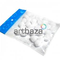 Набор декоративных помпонов для творчества и поделок, белых, Ø1.5 см., REGINA