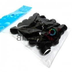 Набор декоративных помпонов для творчества и поделок, черных, Ø1.5 см., REGINA