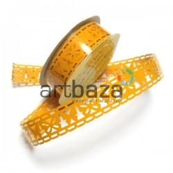 "Лента самоклеящаяся ""Бабочка оранжевая"" трафаретная, ширина 18 мм., длина 1 м."