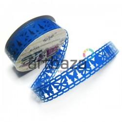 """Лента самоклеящаяся """"Бабочка синяя"""" трафаретная, ширина 18 мм., длина 1 м."""