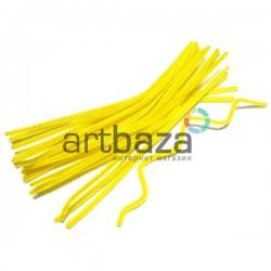 Желтая пушистая проволока шенил (синельная проволока, декоративный ёршик)