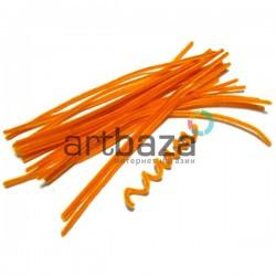 Апельсиновая пушистая проволока шенил (синельная проволока, декоративный ёршик)