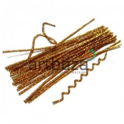 Золотая пушистая проволока шенил (синельная проволока, декоративный ёршик)