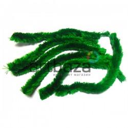 Зеленая меховая пушистая проволока шенил (синельная проволока, декоративный ёршик)