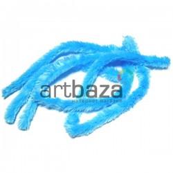 Голубая меховая пушистая проволока шенил (синельная проволока, декоративный ёршик)