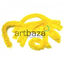 Желтая меховая пушистая проволока шенил (синельная проволока, декоративный ёршик)
