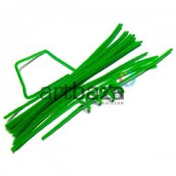 Светло - зеленая пушистая проволока шенил (синельная проволока, декоративный ёршик)