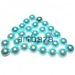 Набор голубых декоративных перламутровых полубусин под жемчуг, Ø7 мм., 30 штук, REGINA