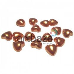Набор красных декоративных перламутровых полубусин под жемчуг, Ø1 см., 15 штук, REGINA