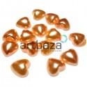 Набор оранжевых декоративных перламутровых полубусин под жемчуг, Ø1 см., 15 штук, REGINA