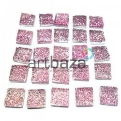 Набор розовых керамических стеклышек для мозаики, витража и творчества, 10 x 10 мм., 25 штук, REGINA