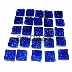 Набор синих керамических стеклышек для мозаики, витража и творчества, 10 x 10 мм., 25 штук, REGINA