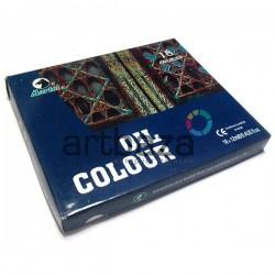 Набор художественных масляных красок, 18 цветов по 12 мл., Martol