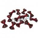 Набор декоративных бантиков тканевых, темная шотландка, 2.5 см., 12 штук, REGINA
