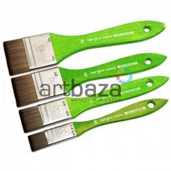 Кисть синтетическая, флейц плоская, 40 мм., Bergino