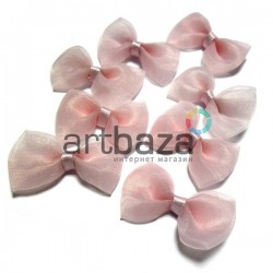 Набор розовых декоративных бантиков из органзы, 3.5 см., 8 штук, REGINA