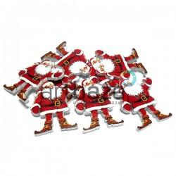 """Набор деревянных декоративных пуговиц """"Дед Мороз"""", 3.2 x 3.5 см., 8 штук, REGINA"""