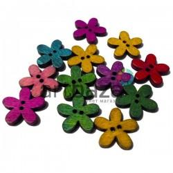 """Набор деревянных декоративных пуговиц """"Цветок"""", Ø2 см., 12 штук, REGINA"""