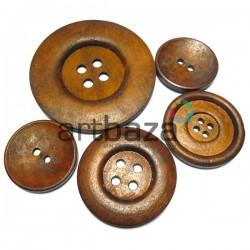 Набор деревянных декоративных пуговиц, Ø3 - 5.8 см., 5 штук, REGINA