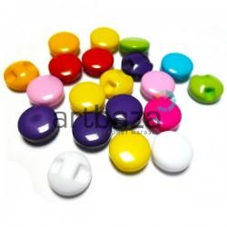 Набор пластиковых декоративных мини - пуговиц с потайным ушком, Ø0.8 см., 20 штук, REGINA