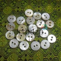 Набор пластиковых декоративных пуговиц, белые в коричневые разводы, Ø0.9 см., 20 штук, REGINA