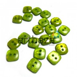 Набор пластиковых декоративных пуговиц, зеленые с перламутром, 0.9 x 0.9 см., 20 штук, REGINA